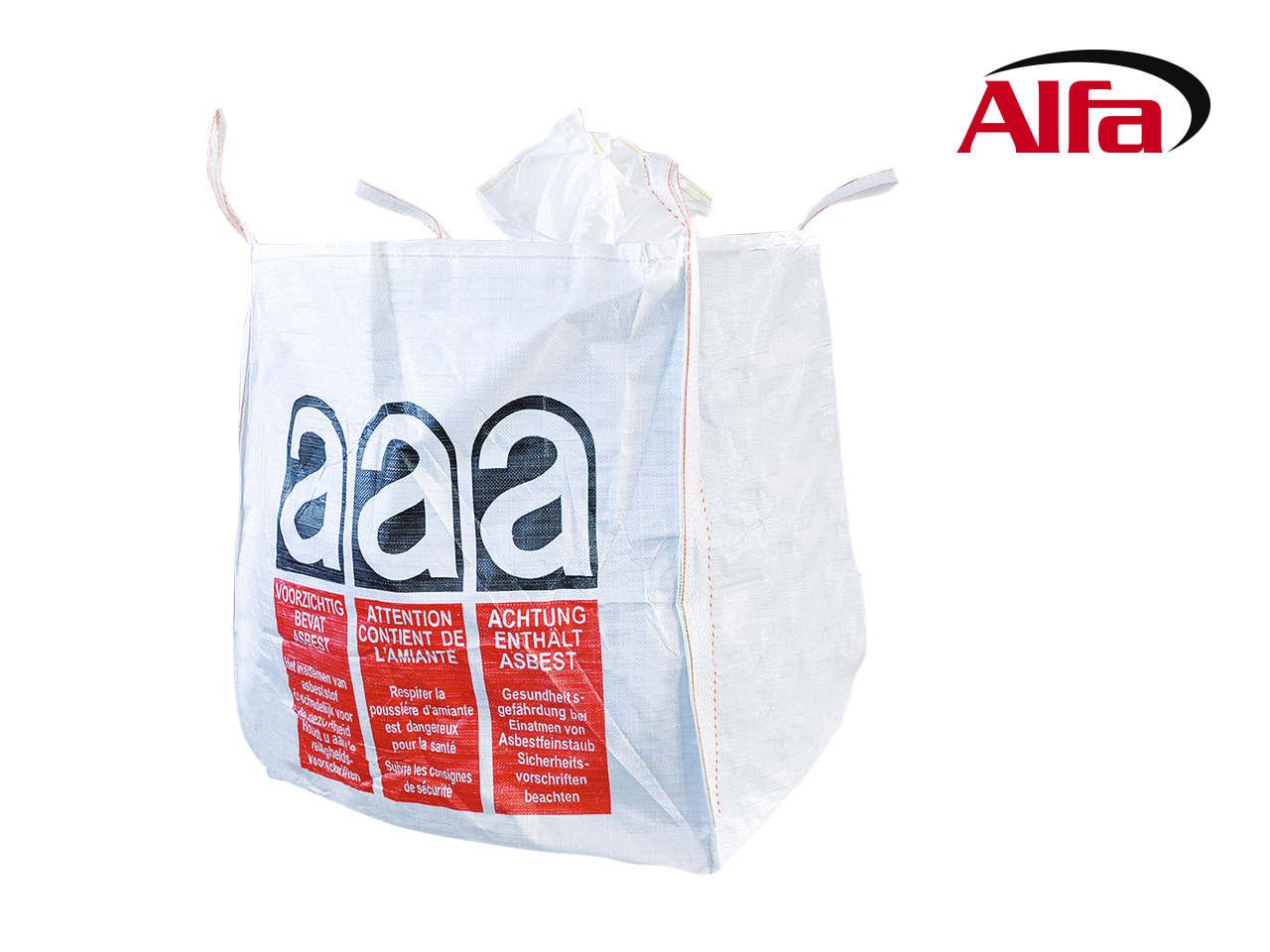 alfa big bag asbest f r die entsorgung von asbest mileralfasernalfa big bag asbest f r die. Black Bedroom Furniture Sets. Home Design Ideas